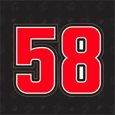 58 - Moto GP Adesivo ,Marco Simoncelli adesivo, Supersic, adesivo, Sic