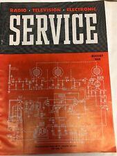 Rare vintage August 1952 ,Radio Television Electronics Service Magazines