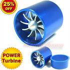 "55-64mm 2.2-2.5"" TURBO CHARGER Turbonator AIR INTAKE TURBINE Fuel Saver Fan BLUE"