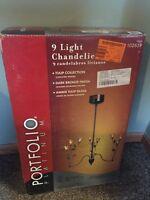 Portfolio Platinum TransGlobe Lighting Fixture Lamp Light Tulip Chandelier 02659