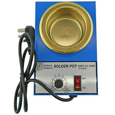 Solder Melting Pot 250w Temperature 200-450c with UK plug for Hobby Casting.
