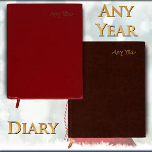 A4 2020 2021 Diary Day a Page ANY YEAR Diary Hard Backed A4 Diary Best Gift UK⛳