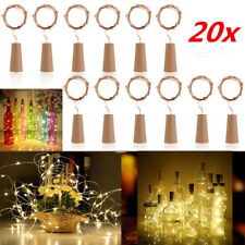 20x 20led Wine Bottle Copper Wire Fairy String Light Bulb Cork Battery Operated