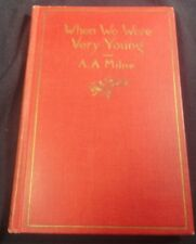 "A.A. Milne Vintage Hard Cover ""When We Were Very Young"" Book"