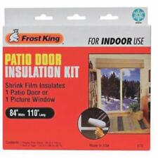 Thermwell PATIO DOOR/WINDOW SHRINK FILM KIT Crystal clear plastic - 3 pack