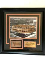 Philadelphia Flyers Authentic Slice of Spectrum Brick and Signed Photo