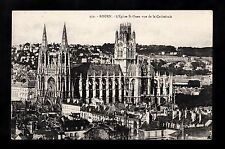 C1920s View of the Town & Cathedral, Rouen, France