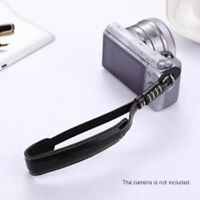 Black Camera Wrist Hand Strap PU Leather Lanyard For DSLR UK Seller