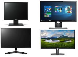 "CHEAP 24"" 22"" 19"" 17"" Monitor TFT PC Computer LCD VGA DVI HD FLATSCREEN DELL HP"