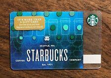 Starbucks Gift Card 2018 Siren Logo Blue Cups Est 1971 Mermaid Tail No $ Value