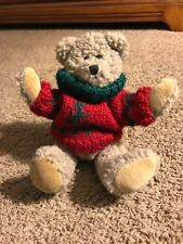 """Boyds Rudolf - Special Limited Edition - Rare 7 1/2"""" In Red Christmas Sweater"""