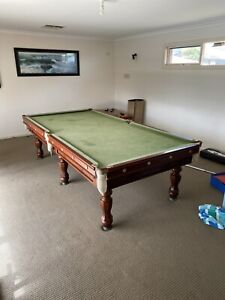 "Antique 9x4'6"" Feet Slate Pool Table"