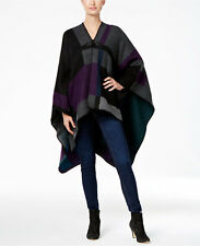 Steve Madden Mondrian Women's Colorblock Poncho One Size Fits All New