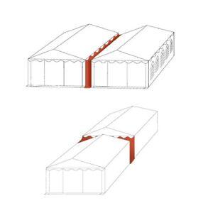 Regenrinne Verbindungsrinne für Partyzelte und Lagerzelte in weiß aus PVC