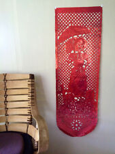 Day of the Dead Mylar 5 foot banner, Red Adelita