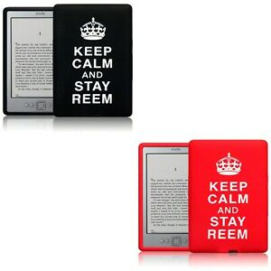 Stay Reem Flexible Silicone Soft Rubber Back Case Cover for Amazon Kindle 4