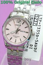 LTP-1335D-5A Pink New Casio Watch Women'S Day Date 50-Meter Water Resistance