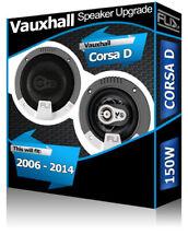 "Vauxhall Corsa D Rear Door speakers Fli 4"" 10cm car speaker kit + adapters 150W"