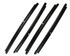 New Outer Beltline Door Glass Window Sweep Set F&R L&R / FOR 01-06 GM CREW-CAB