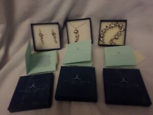Beautiful Joseph Lamsin Jewellery set - silver - bracelet, necklace, earrings