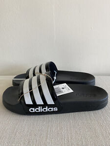 ADIDAS MENS ADILETTE SHOWER SLIDES SIZE 9 NEW WITH TAGS