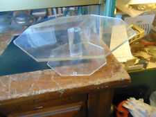 Vintage  Clear Lucite Cake Plate Stand Pedestal Octagon Shape--10 inches