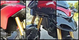 Protezione Griglia Radiatore Acqua Ducati Multistrada 1200 2010-2014 Inox nero