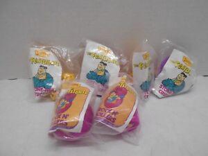 Vintage 90's The Flintstones Denny's Kids Meal Toys lot of 6 New in Package Kids