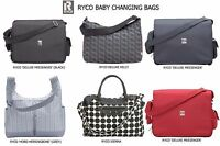 RYCO Deluxe Baby Changing Nappy/Diaper Bag with Changing Mat (Various Designs)