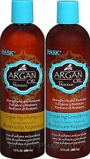 Hask ARGAN OIL Reparing Shampoo & Conditioner COMBO 12 oz ea