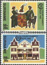 Suriname 1183-1184 postfris 1986 Court Charity