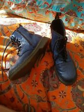 Dr Martens Blue Glittery Boots Size 4 Youth/Kids Great Condition