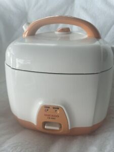 Cuckoo CR-0331 Rice Cooker 3 Cups Uncooked (1.5 Liters / 1.6 Quarts) Orange Used
