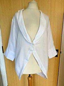 Ischiko OSKA Ladies Blouse Shirt 14 Over Top Lightweight Jacket Layering Summer