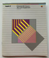 Vintage Apple II Computer 2 Extended 80 Column Text Card Supplement Manual IIe