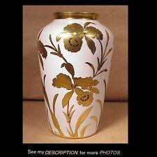 "Large 10"" Stouffer Fine China Golden Orchid Vase Artist A Rhodes"