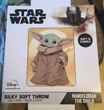 New, Star Wars The Mandalorian Yoda The Child Silky Soft Throw Blanket, 40 X 50