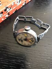 Late 1933 Ingersoll Vintage Mickey Mouse Watch Chicago Worlds Fair Wire Lugs