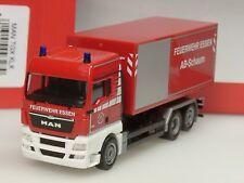 Herpa MAN Abrollcontainer LKW, Feuerwehr ESSEN - 093279 - 1:87