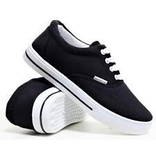 Ladies Womens Flat Lace Up Canvas Plimsolls Gym Trainers Casual Pumps Shoes Size