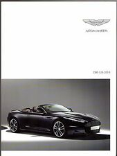 Aston Martin DBS UB-2010 Limited Edition 2010 UK Market Foldout Sales Brochure