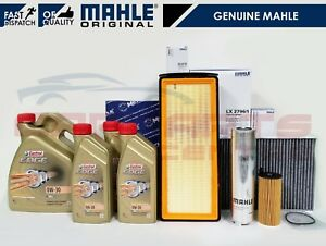 FOR BMW 3 SERIES F30 3.0 MAHLE AIR OIL FUEL CABIN FILTER SERVICE KIT CASTROL OIL