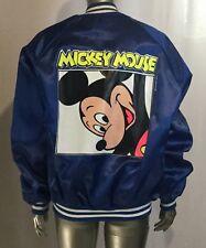 Vtg Chalk Line Mickey Mouse Disney Satin Varsity jacket XL