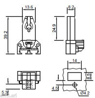 9211/V Portalampade per lampade fluorescenti  - G5 T5 ( coppia )