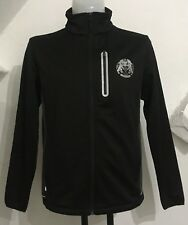 LEICESTER TIGERS 125 YEARS MATCHDAY BLACK SOFTSHELL JACKET SIZE ADULTS MEDIUM
