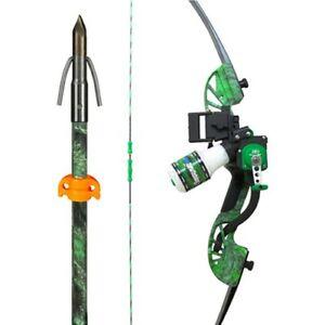 Ams Bowfishing B705-MOC-RH Water Mok Green Accent RH Archery Bow Kit