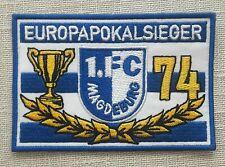 """1. FC Magdeburg Aufnäher sehr selten """"Europapokalsieger""""    3. Liga   ** NEU **"""