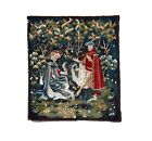 Vintage French Wall Hanging Antique Tapestry Aubusson Weave Size 31X35inches