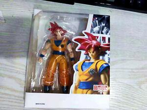 New Figuart Dragon Ball Z SHF Red Super Saiyan God Red Goku Action Figure toy