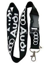 Audi Black White Lanyard NEW UK Seller Keyring ID Holder Strap